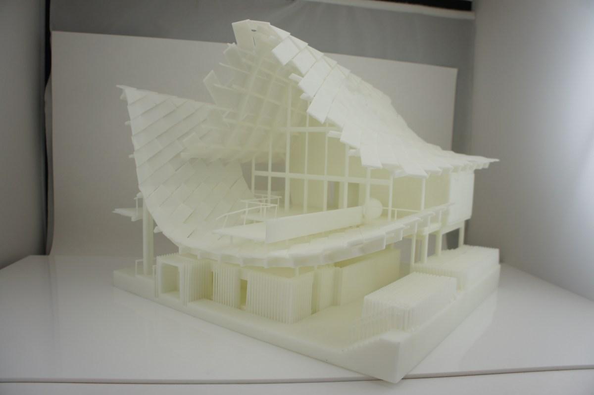3D Printed architecture fancy house pavallion