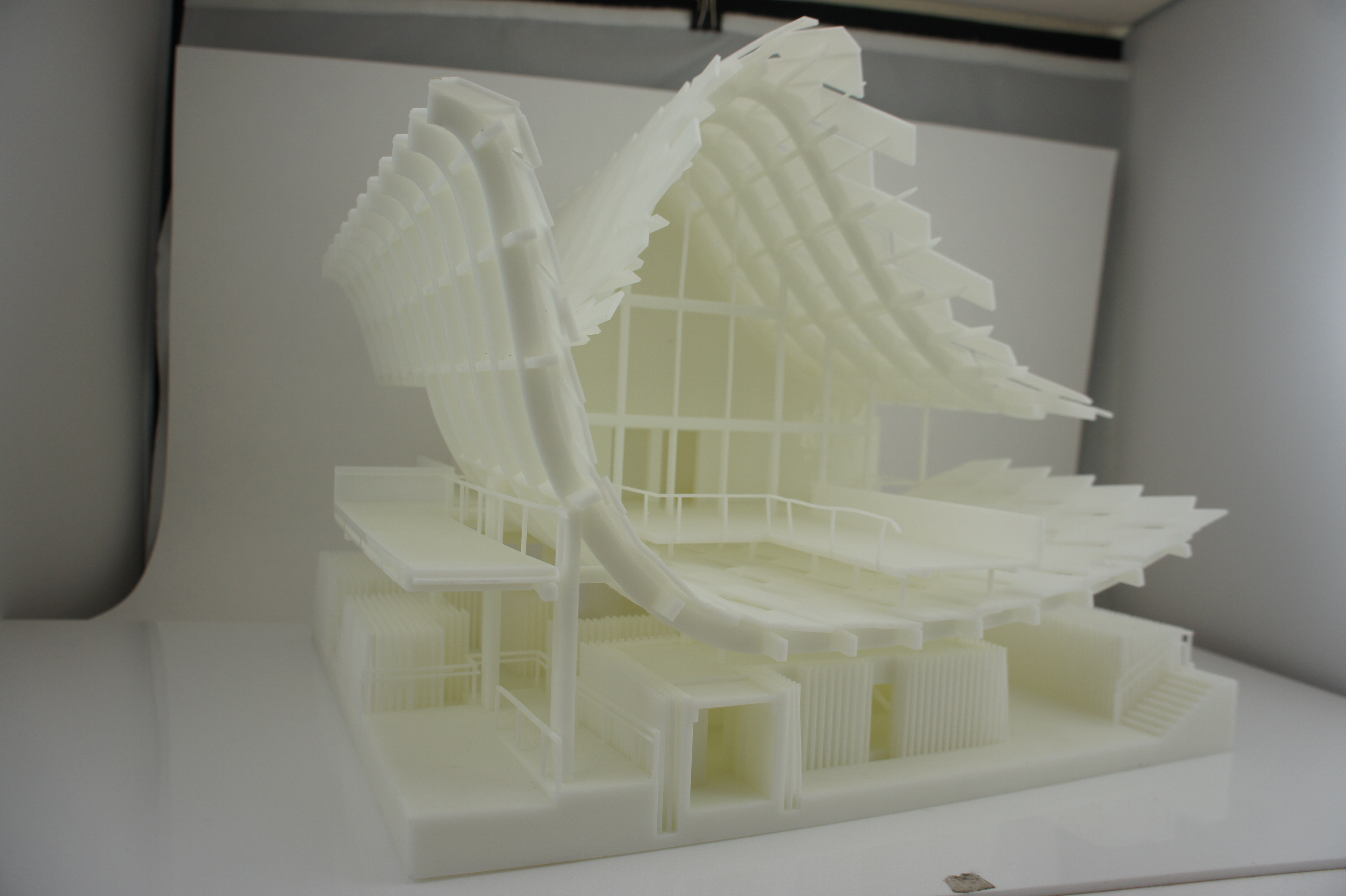 China house split 3D print side view