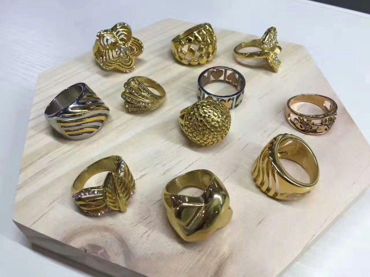 Metal 3D Printing gold ring