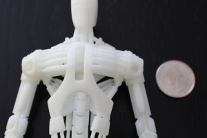 3D printed Robot with quarter