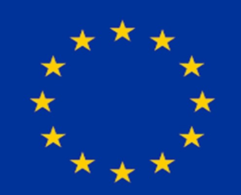 The picture shows the European's flag representing the focus of this article concerning the three best stocks in Europe