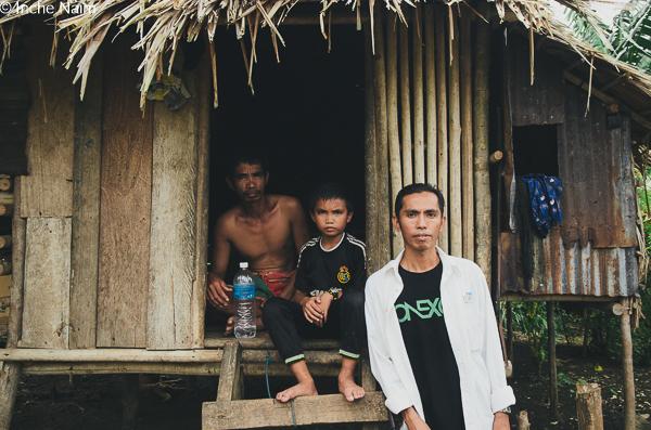 Rumah penduduk pulau banggi kudat
