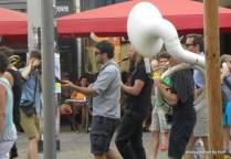 Echte Straßenmusikanten