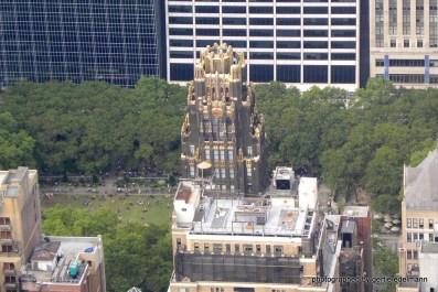 Blick vom Empire State Building auf den Bryant Parc hinter der Bibliothek