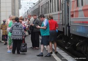 Versorgung auf dem Bahnsteig