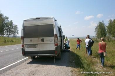 Ein russischer Busfahrer kann alles reparieren