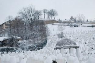 Friedhof mit Blick zur Festung