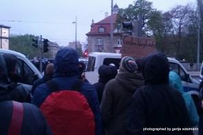Protest am Neuen Rathaus