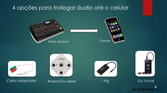 4 opções para trafegar áudio até o celular