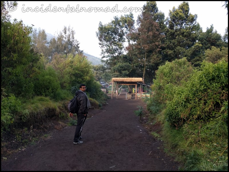 Entry gate to Ijen