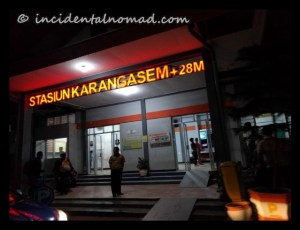 Karangasem Railway Station : We disembarked here..