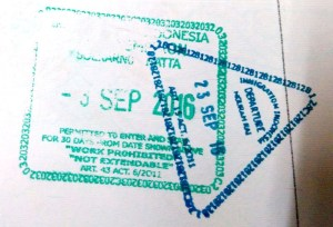 Most Relaxing Stamp ever - Entry and Exit Immigration Stamp from Indonesia