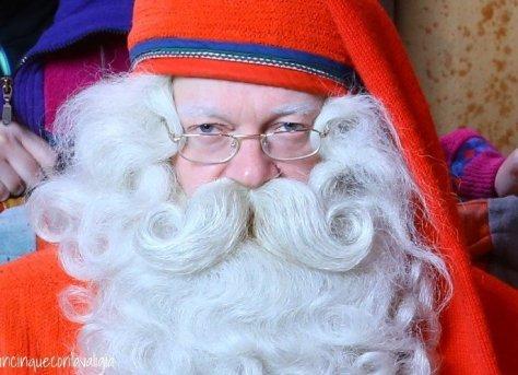 Il vero Babbo Natale in Lapponia la barba