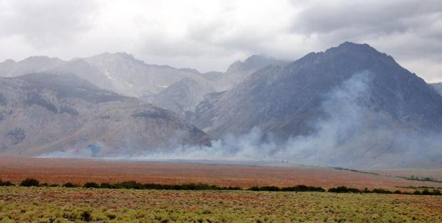 Taboose Fire 9/5/19 am. Photo by Jon Klusmire/Inyo County