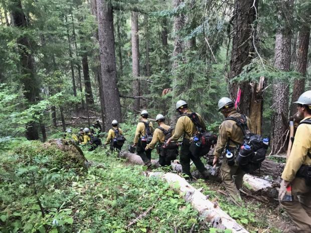Happy Camp Crew 2 walking in off the Kidder Fire