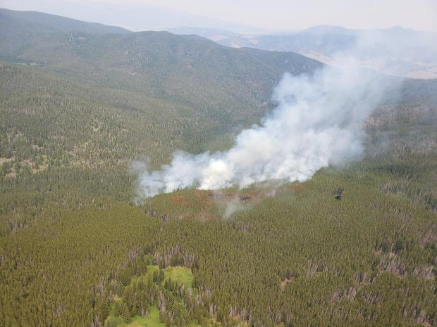 Alder Creek fire spread from 7/11/21, showing fire growth on the eastern flank.