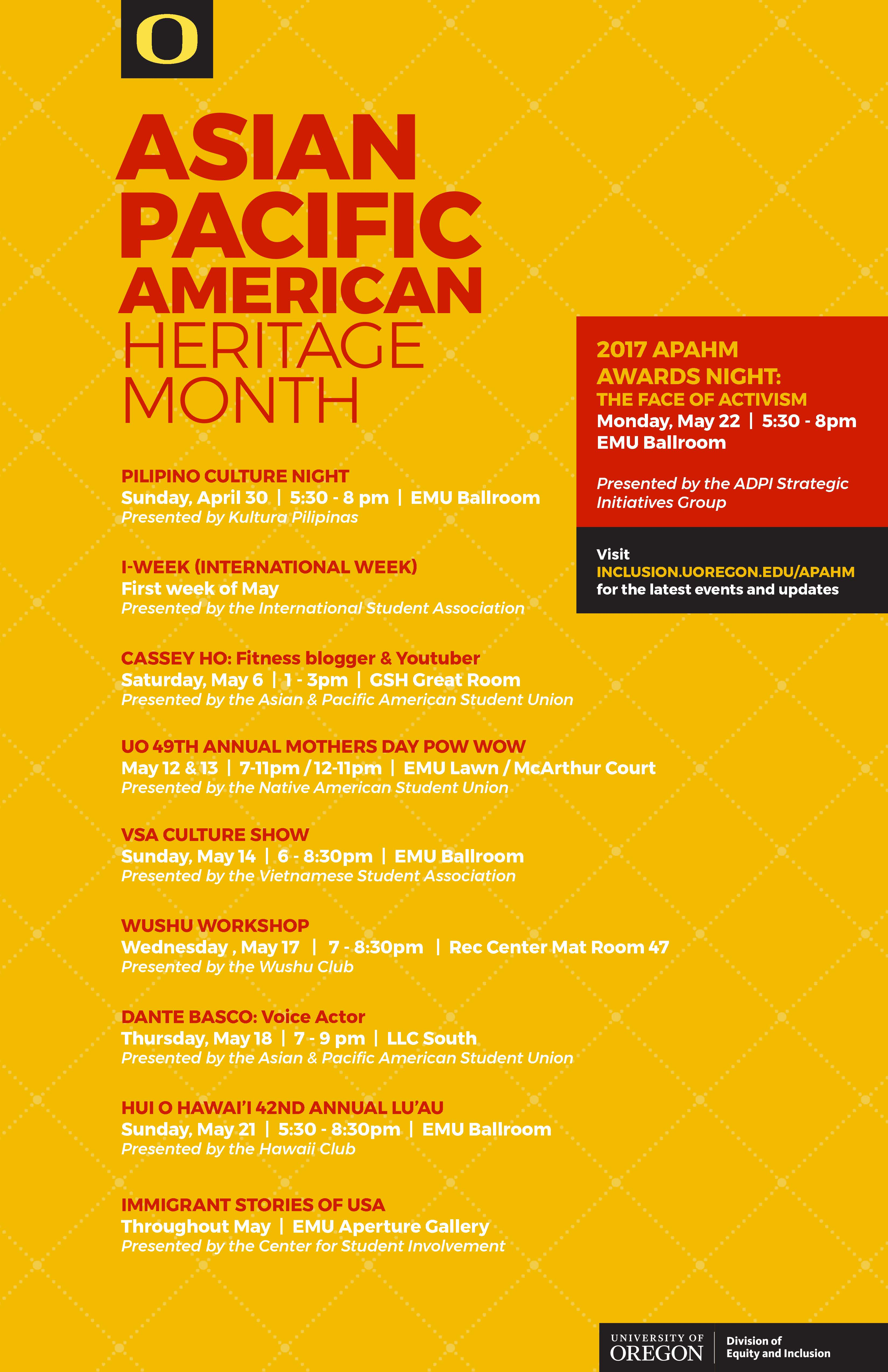 Asian Pacific American Heritage Month  Equity and Inclusion