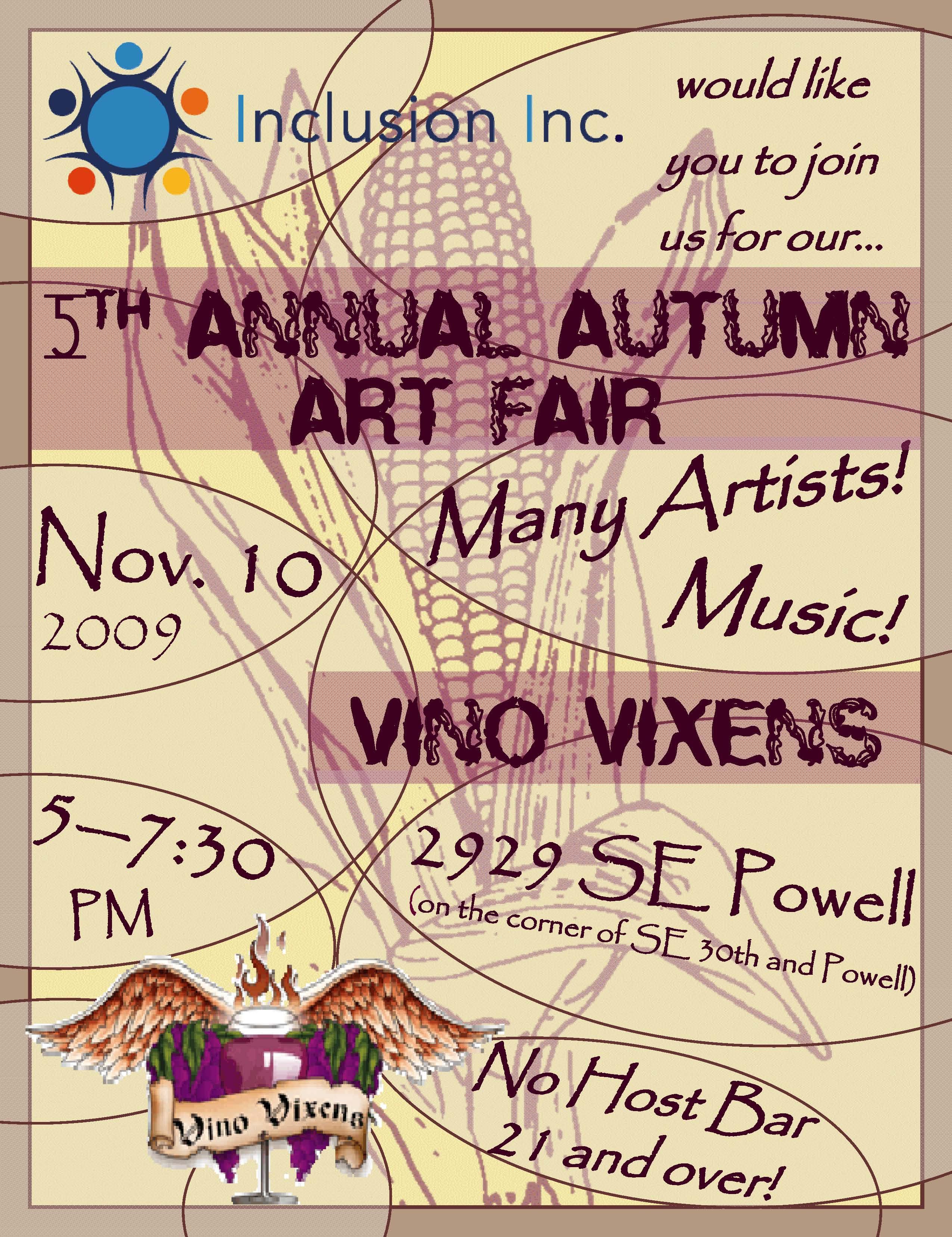 Autumn Art Fair 2009 Flyer