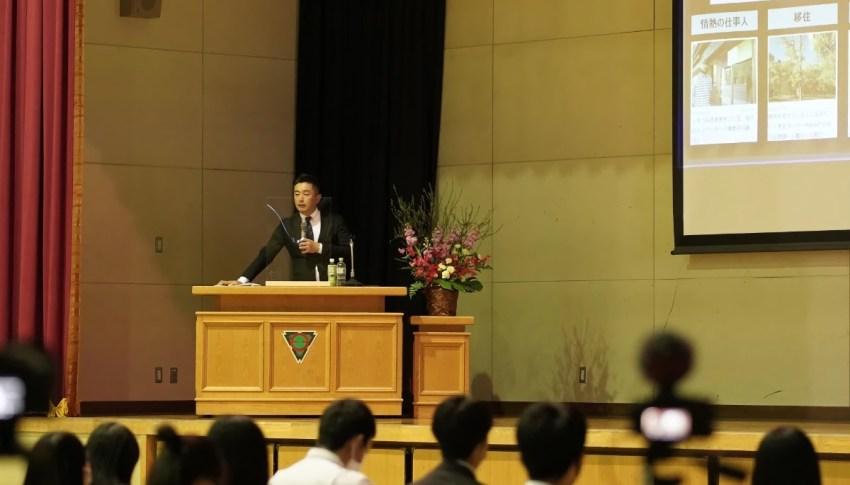旭川市の高校生に向けたキャリア教育モデル授業にて、代表取締役社長藤田が講演しました