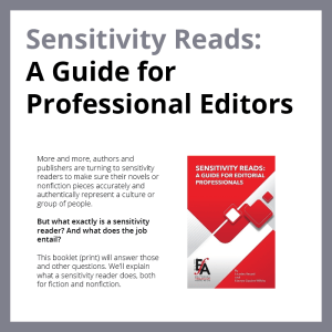 Cover of Sensitivity Reads: A Guide for Professional Editors (print booklet)