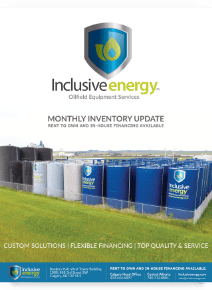 Inclusive Energy Oilfield Equipment Inventory Update