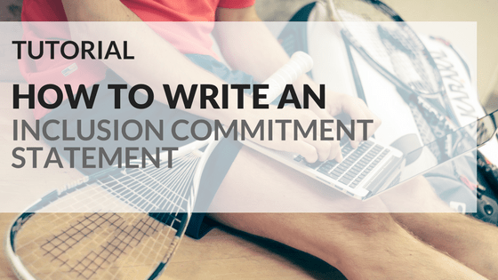 How to write an inclusion commitment statement