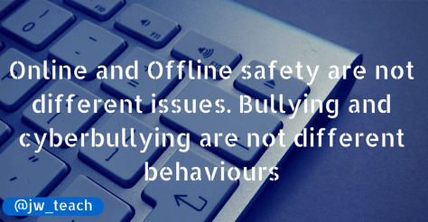 Online and Offline safety are not
