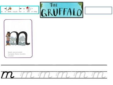 Gruffalo Free Phonics Read Write Inc worksheet
