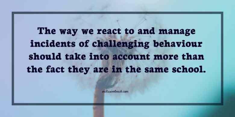 challenging behaviour quote