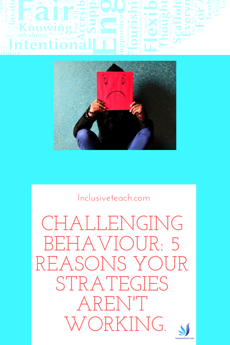 Challenging Behaviour: 5 reasons your strategies aren't working. A blog image on SEN and education