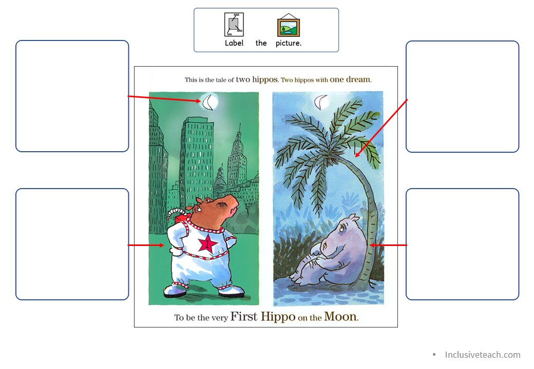 free teaching resources first hippo on moon