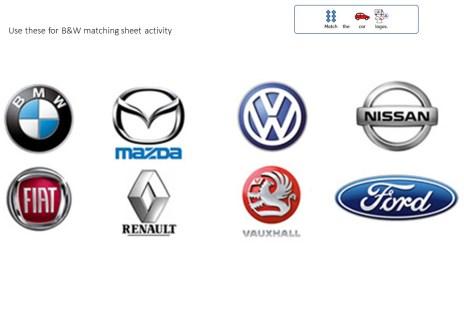 car logos Free SEN teaching transport topic resources