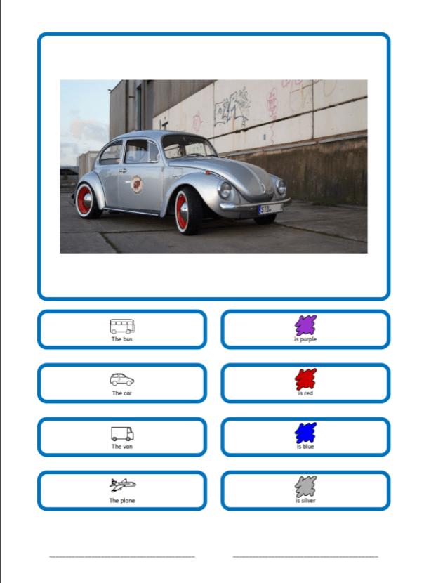 Free Worksheet SEN teaching resources vehicles