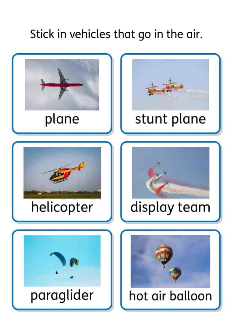 free transport topic SEN teaching resources
