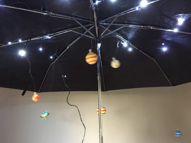 Storytelling umbrella space flo longhorn