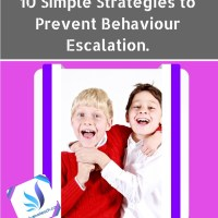 10 Simple Strategies to Prevent Behaviour Escalation.