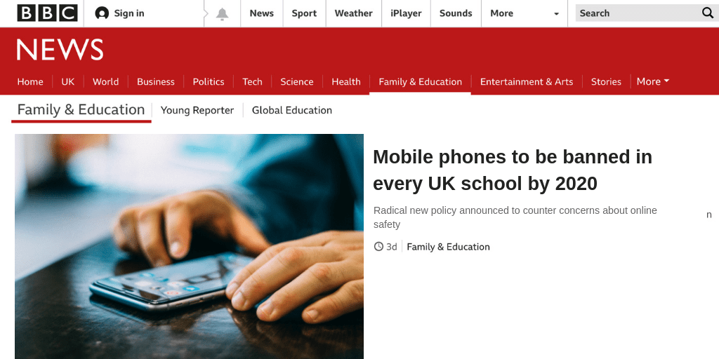 Education April fool 2019 mobile phones banned in schools