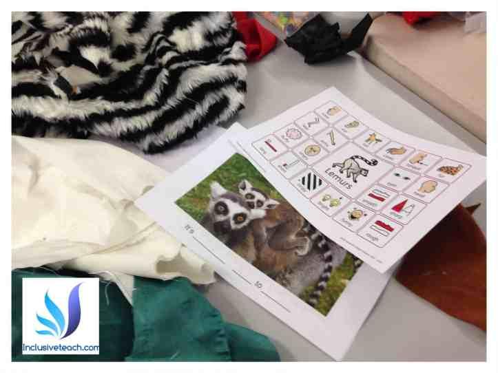 lemur tactile book sensory activity