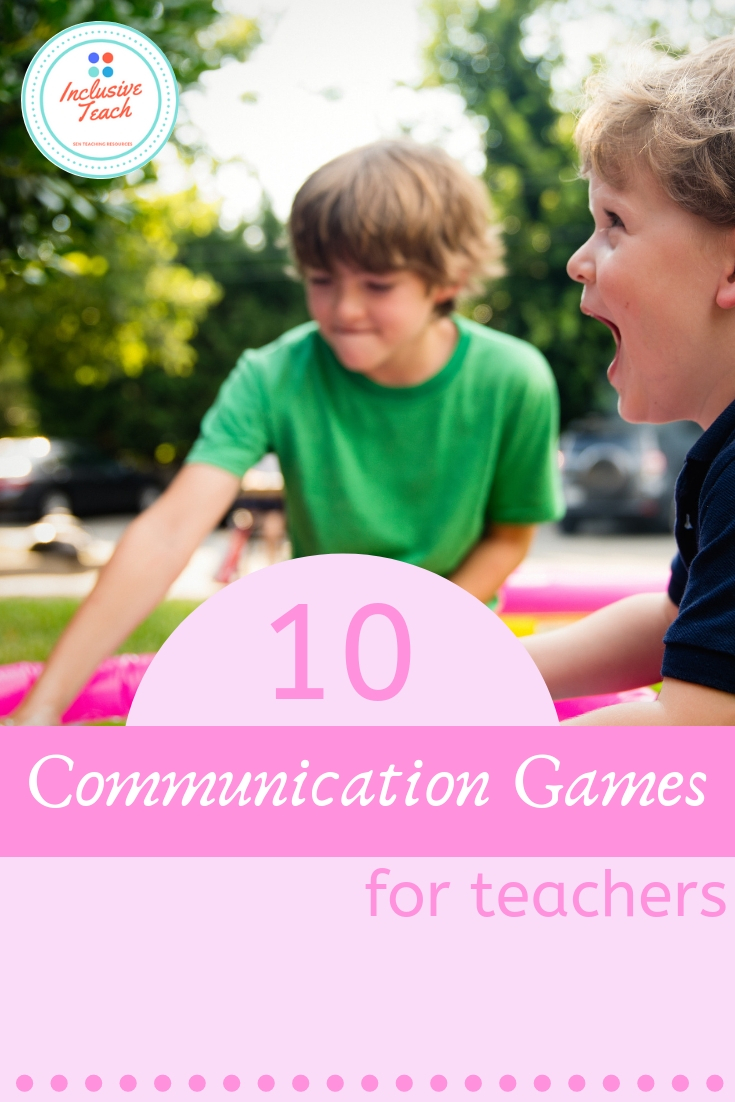 10 communication games for teachers graphic AAC