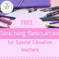 Free Printable SEN Teaching Resources