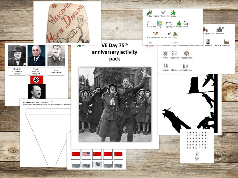 VE day SEN home learning activity pack
