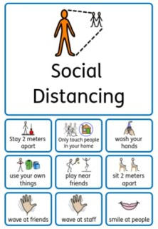 Social distancing social story autism