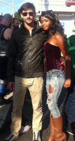 My husband Romain and I
