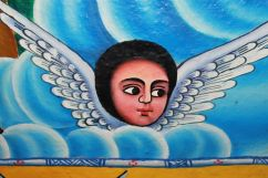 Angel art in Ethiopian Monastery at Lake Tana