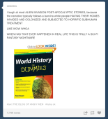 On post-apocalyptic/alien invasion stories