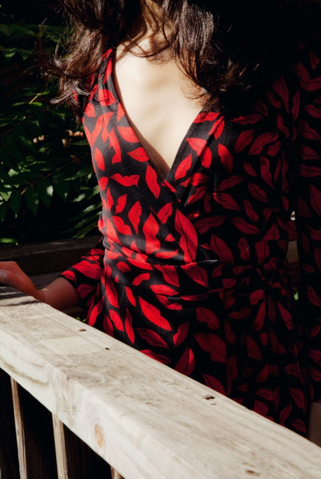 dvf, lipstick dress, luxurymaman