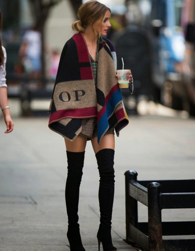 olivia palermo, fall fashion, poncho, women's fashion, luxurymaman