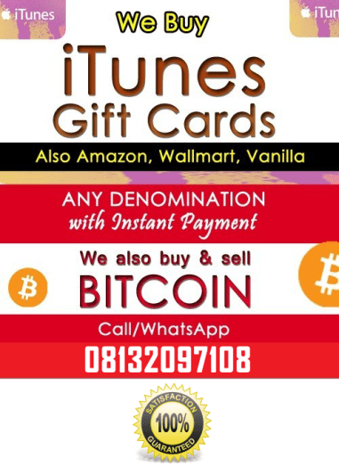 how to Sell itunes gift card in Nigeria