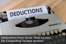 Deductions from Gross Total Income for computing Taxable Income