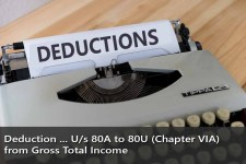 Deduction Under Section 80A to 80U (Chapter VIA) from Gross Total Income